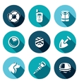 Set of Search and Rescue service Icons vector image