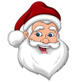 Happy Santa Claus Face Side View vector image