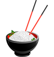 Bowl of rice Vector Image