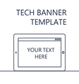 Web Banner with Tablet vector image