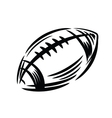 Black Football icon vector image