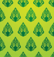 Green Pattern Wallpaper vector image
