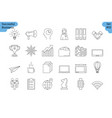 linear icon set 2 - business vector image