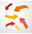 3d Arrows in Warm Colors vector image vector image