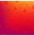Red And Orange Background With Red Hearts vector image vector image