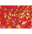 Red hand drawn pattern with lines vector image vector image
