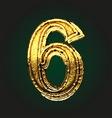 6 golden letter vector image vector image