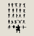 Body Building and Lifting Weights vector image