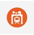Underground sign icon Metro train symbol vector image