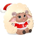 beautiful sheep on a white background vector image
