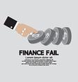 Finance Fail The Financial Failure Concept vector image