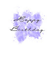 hand painted watercolor greeting card vector image