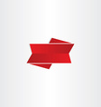 red ribbon design element vector image