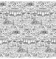 Supermarket hand drawn seamless pattern vector image