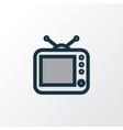 tv colorful outline symbol premium quality vector image