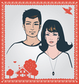 young loving couple vector image