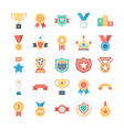 Vote and Rewards Colored Icons 1 vector image