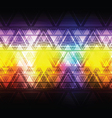 colorful abstract triangle background vector image vector image