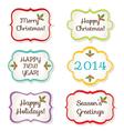 Christmas frames set vector image vector image