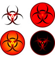 signs of bio hazard vector image