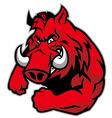razorback mascot vector image