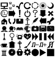 Computer program signs silhouettes vector image vector image