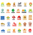 large set of logos farm
