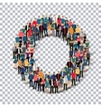 group people shape letter O Transparency vector image