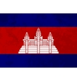 True proportions Cambodia flag with texture vector image