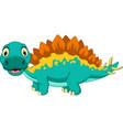 cute stegosaurus cartoon posing vector image