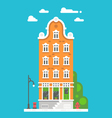 Flat design european building vector image
