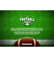 american football top view on green field vector image