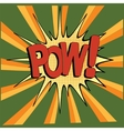 cartoon green pow vector image