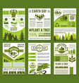 earth day and ecology conservation poster vector image