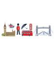 london icon set vector image