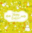 Postcard Easter Bunny vector image