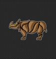 rhino logo template design vector image