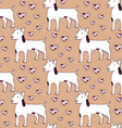 Sketch bullterrier seamless pattern vector image