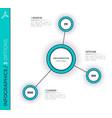 Three options minimalistic creative infographic vector image