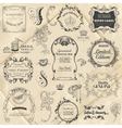 Vintage Frame collection with Flowers vector image