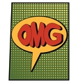 cartoon green omg vector image