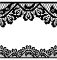 black lace on white background and place for your vector image