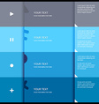4 color flat design template - vector image vector image