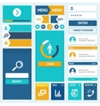 Set of flat web design elements vector image vector image