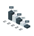 Business Isometric Infographic Chart Template vector image