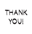 Thank You hand drawn scribble icon symbol vector image