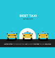 best taxi cars in the city vector image
