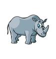 Cartoon grey rhino character vector image