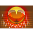 heart rhythms vector image
