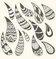 paisley design elements vector image